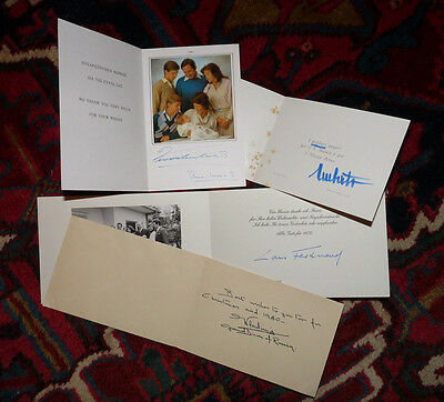 Signed /  Autograph ROYAL Christmas Cards-Greece / Russia / Italy / Prussia