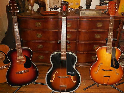1959 Harmony H 1215 Archtop Guitar VGC GREAT ACTION