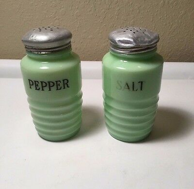 Jadite Salt and Pepper Shakers