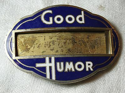 Vtg Early Rare Good Humor Man Enameled Hat Id Name Badge Pin Button 1920S 1930S