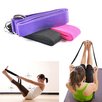 71'' 6FT Yoga Stretch Strap Training Belt Waist Leg Fitness Girls Exercise Gym