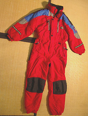 JUPA one piece SNOWSUIT youth 12 insulated red snow ski suit boys girls kids M