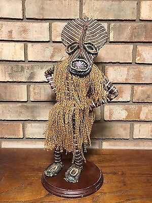 Rare Old South African Tribal Makishi Tribe Zambabwe Doll Witch Doctor Figure