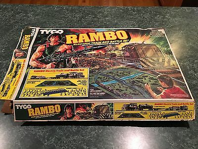 Vintage 1985 Tyco RAMBO Electric Train Set  ***BOX & CARDBOARD MAP ONLY***  RARE