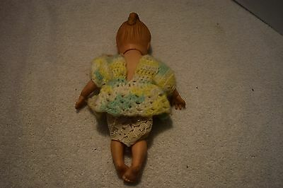 Vintage Rubber Doll, Girl, Clothes, 10 1/2 Inches