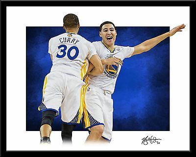 Stephen Curry and Klay Thompson signed print #4/10 Golden State Warriors Rare!