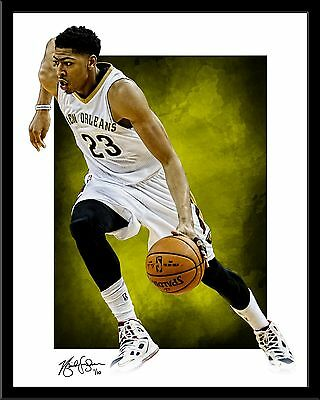 Anthony Davis signed print #4/10 New Orleans Pelicans