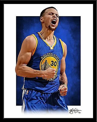 Stephen Curry signed print #10/10 Golden State Warriors Rare! NEW 2