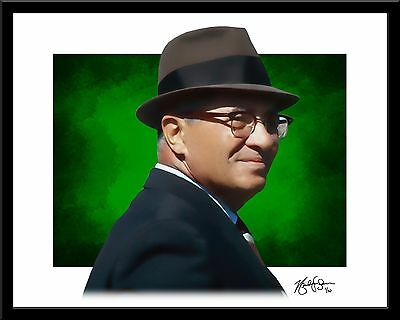 Vince Lombardi signed print #7/10 Green Bay Packers Rare! Hall of Fame Coach
