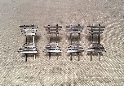 Austrian Antique Sterling Silver Set 4 Miniature Chairs