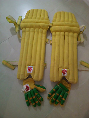 Cricket Batting Pads And Gloves Leg Pads Slasher Rpd  Boys Junior Cotton