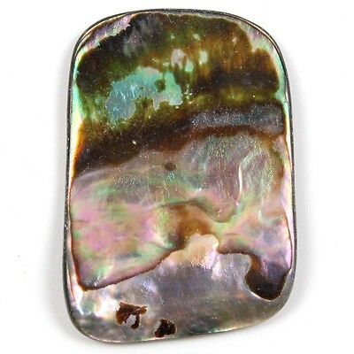Color play Fancy Flat 23 Cts Natural ABALONE SHELL Gemstone 35x24 mm Top eBay