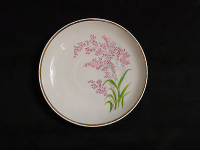 Antique French Porcelain Hand Painted Floral Large Saucer 1883