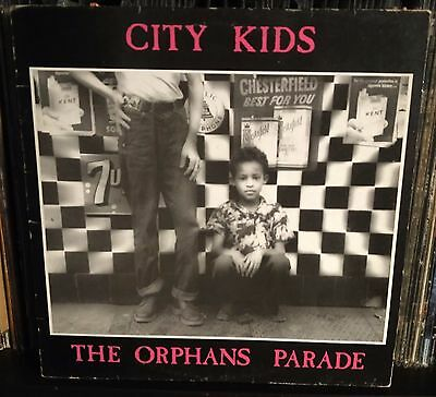 City Kids ‎– The Orphans Parade Lp 1987 Italian issue with Inner Sleeve