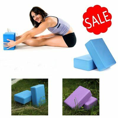 Yoga Block Brick Foaming Home Exercise Practice Fitness Gym Sport Tool RW