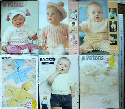 BABY Knitting Outfits & Cardigans & Jumpers 3, 4 & 8 Ply Multi List 4 Books B19