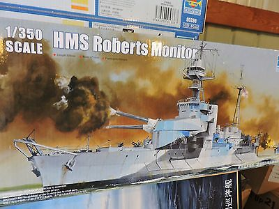 TRUMPETER 1/350th SCALE HMS ROBERTS BRITISH MONITOR  SHIP  # 05335