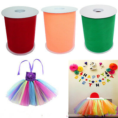 """5 Pack MIX Tutu Tulle Roll 6"""" x 100 yds Soft Netting Graft Fabric Wedding Party"""