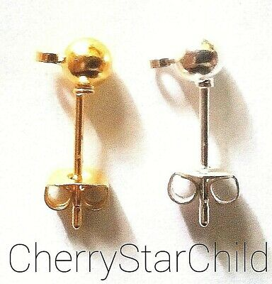 Gold filled silver filled ball stud earrings for crafts findings charms beads