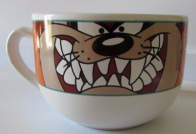 Looney Tunes Taz Devil Oversize Coffee Soup Mug Warner Bros 1998 Gibson