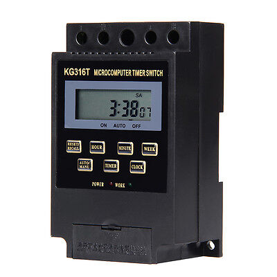 KG316T AC/220V Micro computer Timer-Switch Programmable Controller ON/OFF DC 12V