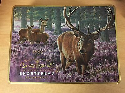 Marks and Spencer Stag Scottish Shortbread/biscuit Tin (empty)