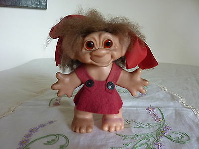 Vintage Troll Doll Glass Eyes Thomas Dam Made In New Zealand