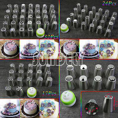 UK Russian Rose Tulip Icing Piping Nozzle Cupcake Cake Decoration Tip Tool Set