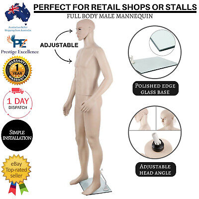 Male Mannequin Full Body Dummy Stand Shop Window Display Model Tailor 186cm NEW