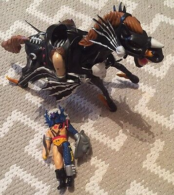 Rare Warduke & Evil Nightmare Flying Horse DUNGEONS AND DRAGONS figures LJN 1983