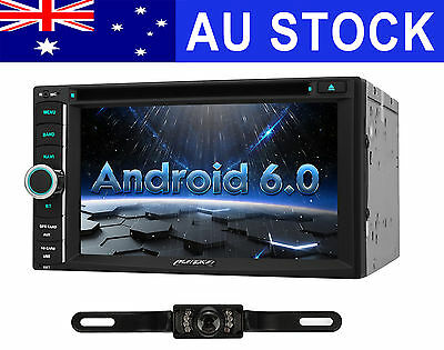 Android 6.0 Car Stereo GPS Navigation DVD Player Wifi-3G OBD2 HeadUnit + Camera
