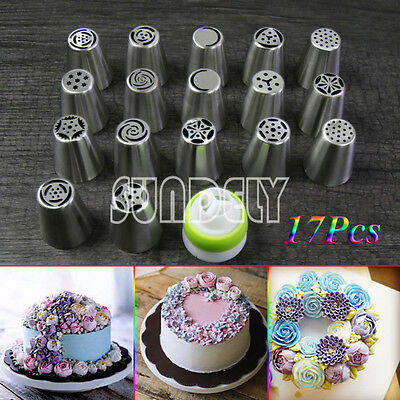 UK HI-Q 17Pc Russian Tulip Icing Piping Nozzle Tips Flower Cake Decorating Tools