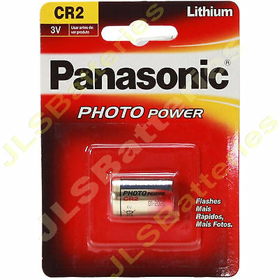 1 x Panasonic CR2 3V  LITHIUM CAMERA PHOTO Battery DLCR2 ELCR2 KCR2