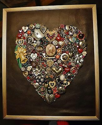 Large Jewelry Heart, Vintage & Modern Jewelry, signed by Artist