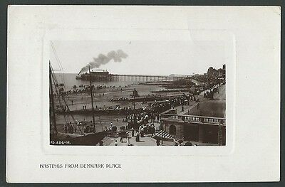 Hastings Sussex From Denmark Place 1909 Rapid Real Photo Postcard