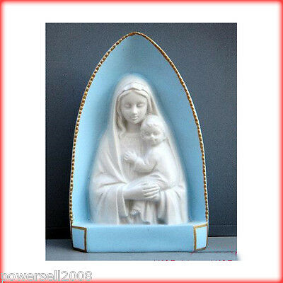 Catholic Church Jesus Christian Blessed Virgin Mary Decoration Resin Gift Blue