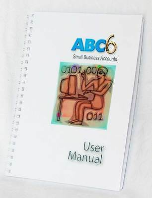 Printed User Manual 2015 for ABC6 Accounts Bookkeeping software