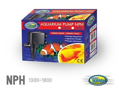 Aqua Nova Aquarium Powerhead 1300 L/h Fish Tank Filter Pump Power Head NPH1300