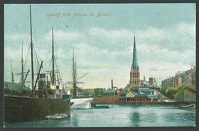 Bristol Redcliff From Princes Street Vintage Empire Printed Postcard
