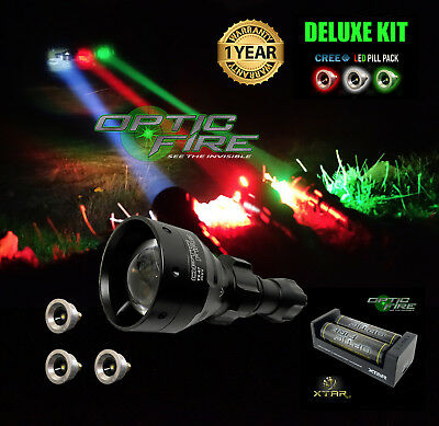 Opticfire® TX-67 T67 mini LED Deluxe/Supreme LED hunting light torch lamp kit NV