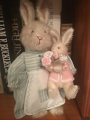 Barbara Daniels Barbel-Bear Mohair Mother And Baby Rabbit