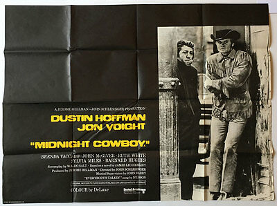 Midnight Cowboy, UK Quad, Film/ Movie poster, 1969, X Certificate