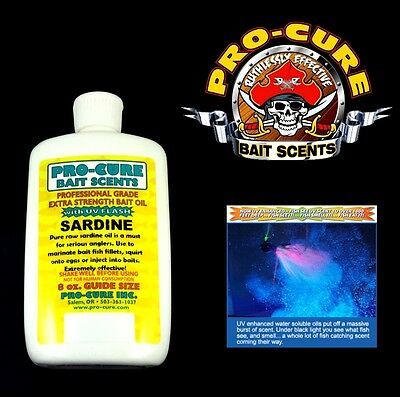 PRO CURE  PROFFESIONAL GRADE EXTRA STRENGTH BAIT OIL WITH UV FLASH 8oz