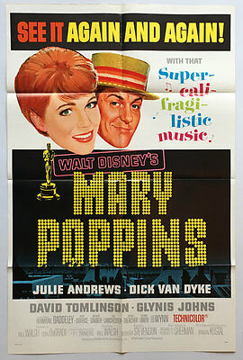Mary Poppins, US 1 sheet, Film/ Movie poster, R1973