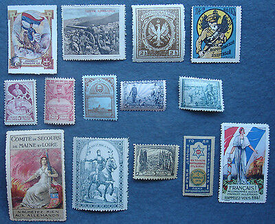 WW1 Poster Stamps And Other Assorted Labels (14)