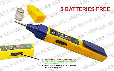 4 In 1 Multi-Function Electronic Tester Voltage Dc Ac Plastic Safe Accurate @uk