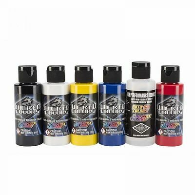 Airbrush Paint - Wicked Primary Set 6 x 60ml - W101-00