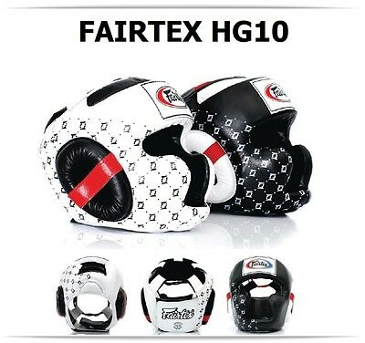 Fairtex Muay Thai Headguard HG10 Full Coverage Sparring Head Guard Kick Boxing