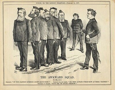 Vintage Punch Political Cartoon February 1877