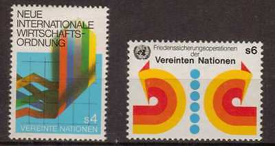 United Nations/Vienna:1980:Economic Order & Peace-Keeping,Stamps,MNH.
